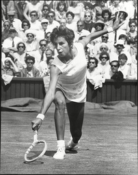Maria Bueno Tennis Player In Action 1966.