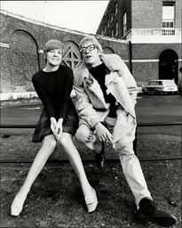Singer Cilla Black With Actor David Warner - 1967