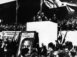 Leon Blum auf Kundgebung 1936 / Foto - Leon Blum at Rally 1936 / Photo - Blum, Léon