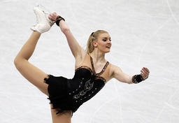 Sweden's Helgesson competes during the women's free program at the ISU World Figure Skating Championships in Saitama