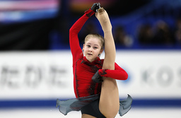 Russia's Lipnitskaia competes during the women's free program at the ISU World Figure Skating Championships in Saitama