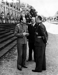 Prince Regent Paul of Yugoslavia with Prince Philipp von Hessen and Joachim von Ribbentrop, 1939