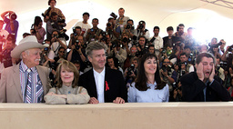 AMERICAN DIRECTOR DAVID LYNCH AND CAST AT CANNES