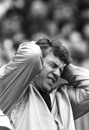 Otto Rehhagel on the last matchday of the Bundesliga season 1985/1986