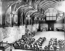 Reception for American Legionnaire soldiers in Westminster Hall, 1937