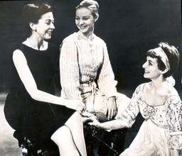 Dancers (left To Right) Antoinette Sigley Margot Fonteyn (1919-1991) Pictured With Merle Park At Covent Garden; The Three Were Sharing The Role Of Juliet In The Royal Ballet Production Of Kenneth Macmillan's Interpretation Of Romeo And Juliet.