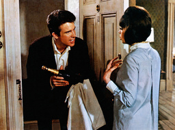 PROMISE HER ANYTHING, from left: Warren Beatty, Leslie Caron, 1965