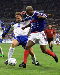 FRENCH SOCCER PLAYER SYLVAIN WILTORD IN FRANCE VS ICELAND SOCCER MATCH