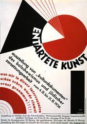 Plakat Ausstellung 'Entartete Kunst'. - Poster/Exhibition 'Degenerate Art:... - Affiche de l'exposition 'L'Art dégénéré'