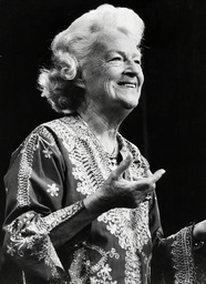 Singer Gracie Fields At The Royal Variety Show.