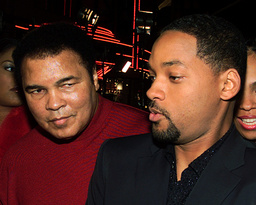 MUHAMMAD ALI ARRIVES WITH ACTOR WILL SMITH AT PREMIERE OF NEW ALI FILM