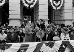 Carl E. Sanders,Ernest Vandiver, Betty Sanders; Joseph Quillian