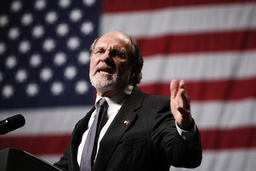 File photo of New Jersey Governor Jon Corzine speaking at a campaign rally at Susquehanna Bank Center in Camden
