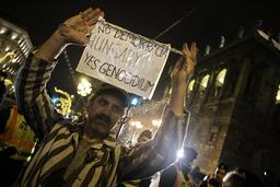 HUNGARY-POLITICS-PROTEST