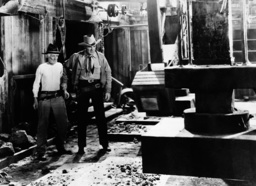 ROCKY MOUNTAIN MYSTERY (aka THE FIGHTING WESTERNER), from left: Chic Sale, Randolph Scott, 1935