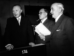 Adenauer at conference of Council of Europe