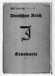 Third Reich - ID card for Jews 1939