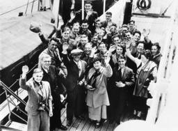 German exchange students in New York, 1936