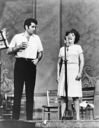 From left: Bruce Yarnell, Ethel Merman recording the Lincoln Center production oridinal cast