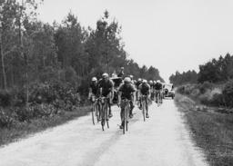 Rene Le Greves, Antonin Magne and Felicien Vervaecke at the Tour de France, 1936