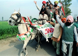 CONGRESS PARTY WORKERS CAMPAIGN IN PUNJAB