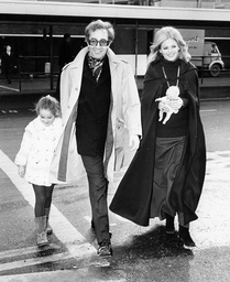 Actress Britt Ekland Husband Peter Sellers And Their Daughter Victoria Sellers In 1970.