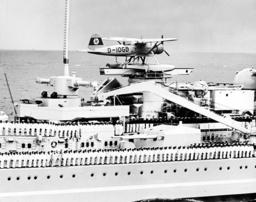 Seaplane on board the battleship 'Gneisenau'