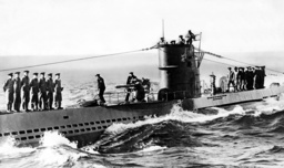 U-47 under Guenther Prien on returning from a patrol, 1939