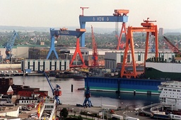HDW shipyard in Kiel