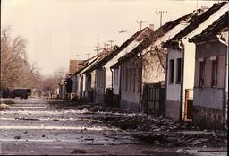 Yugoslavia Civil War: Ruined Houses In Vocin Croatia