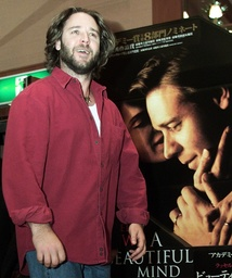 ACTOR CROWE ARRIVES AT NEWS CONFERENCE IN TOKYO