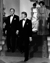 Federal chancellor Helmut Schmidt in the USA 1977