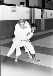 Singer And Actress Patti Boulaye Doing Judo Patti Boulaye (born Patricia Ngozi Ebigwe 3 May 1954) Is A British-nigerian Singer Actress And Artist Who Was Among The Leading Black British Entertainers In The Seventies And Eighties. In Her Native Nigeri
