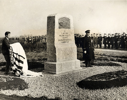 The Birth Of Flying Was Celebrated At The Famous Pont Long Aerodrome Five Miles From Pau In The South Of France Where Twenty Four Years Ago Wilbur Wright Opened His First Flying School. The Monument A Granite Monolith With A Bronze Plaque Showing In
