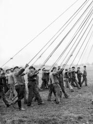 Ground crew of the LZ 129 'Hindenburg', 1936