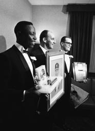 Hank Aaron, Warren Spann, Claude Raymond