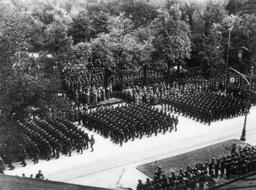 Siegesparade in Warschau 1939 - Victory parade in Warsaw, 1939. -