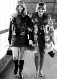L-r: Actresses Sheila White And Adrienne Posta (in Fur Coat) Leaving For Stockholm For The Premiere Of 'here We Go Round The Mulberry Bush'