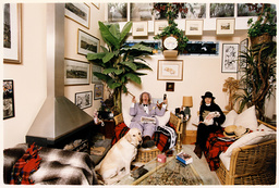John Mccririck Racing Pundit Is Pictured At Home With His Wife Jenny Who He Calls The Booby.