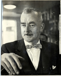 Executioner Harry Allen (died August 1992). Allen Was Britain Last Hangman Officiating Between 1941 And 1964. Picture Shows Harry Allen Behind The Bar Of His Pub The Junction At Lancashire