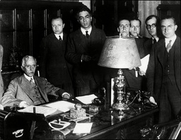 Colonel Macia Starting Business As The Newly Elected President Of The Catalonian Republic In His Office In Barcelona.