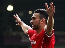 Cardiff City's Caulker celebrates his goal against West Bromwich Albion during their English Premier League soccer match in West Bromwich