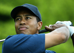 US GOLFER WOODS WATCHES HIS TEE SHOT DURING SAP OPEN IN ST LEON ROT