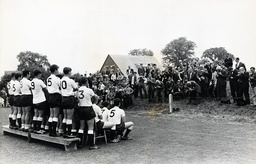 Tottenham Hotpsur In Training Today At Cheshunt. Posing For The Photographers And Fans For A Team Shoot