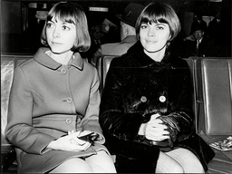 Singer Mireille Mathieu And Her Sister Monique.
