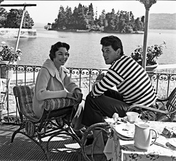 Jennifer Jones and Rock Hudson 1957