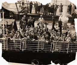 Crowds Of German Refugees Pictured On Board The St Louis Ship Arriving At The Quayside In Antwerp Belgium Having Been Refused Entrance To Cuba.