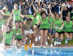 Bilder des Tages Rafael Nadal celebrates his victory during the Conde de Godo tournament xFRANCES