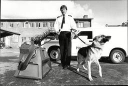 Sgt Aubrey Gunn With Police Dog 'samira' And Doctor Who's Robot Dog K9 At Harold Hill Police Station