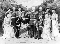 King Ludwig III of Bavaria with his family